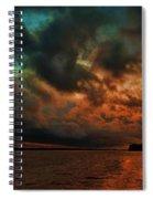 Lake Murray Fire Sky Spiral Notebook