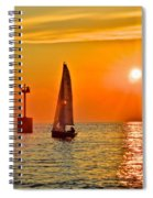 Lake Of Gold Spiral Notebook