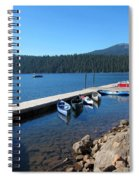 Lake Of The Woods Boat Harbor Spiral Notebook