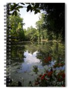 Lake On The Plantation Spiral Notebook