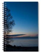 Lake Ontario Blue Hour Spiral Notebook