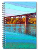 Lake Redding Ca Digital Painting Spiral Notebook