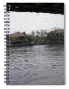 Lake Resort Framed From A Houseboat Spiral Notebook