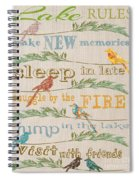 Lake Rules With Birds-c Spiral Notebook