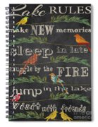 Lake Rules With Birds-d Spiral Notebook