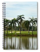 Lake Sand Traps Palm Trees And Golf Course Singapore Spiral Notebook