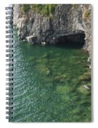 Lake Superior Cliff Scene 7 Spiral Notebook