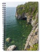 Lake Superior Cliff Scene 9 Spiral Notebook