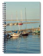 View Of The Harbor Spiral Notebook