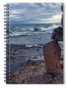 Show Me The Way - Lake Superior Rock Stack Spiral Notebook