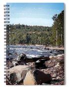 Lake Superior Shoreline Abstract Spiral Notebook