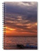 Lake Superior Sunset Panorama Spiral Notebook