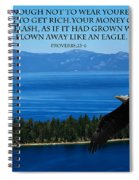 Lake Tahoe Eagle Proverbs Spiral Notebook