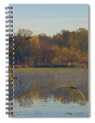 Lake Towhee In Autumn Spiral Notebook