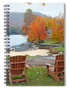 Lake Toxaway Marina In The Fall Spiral Notebook