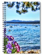 Lake View On Lake Tahoe By Diana Sainz Spiral Notebook