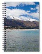 Lake Wakatipu And Snowy New Zealand Mountain Peaks Spiral Notebook