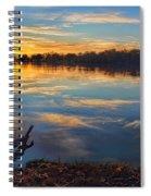 Memorial Park Sunset Spiral Notebook