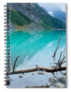 Lake With Canadian Rockies Spiral Notebook