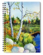Lakeside Birches Spiral Notebook