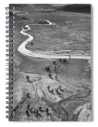 Lamar Valley Black And White Spiral Notebook
