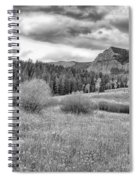 Lamar Valley Looking Towards Specimen Ridge Bw- Yellowstone Spiral Notebook