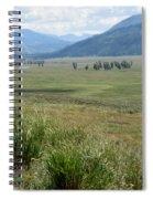 Lamar Valley Yellowstone National Park Spiral Notebook