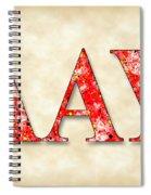 Lambda Alpha Upsilon - Parchment Spiral Notebook