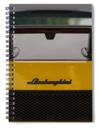 Lambo Logo Yellow Spiral Notebook