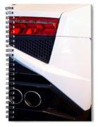 Lamborghini Gallardo Tail Light Pipes Spiral Notebook