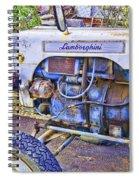 Lamborghini Classic Tractor Spiral Notebook