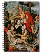 Lamentation For Christ Spiral Notebook