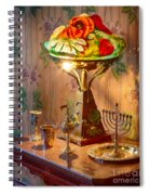 Lamp And Menorah Spiral Notebook