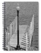 Lamp And Pier Spiral Notebook
