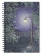 Lamp In The Rain Spiral Notebook