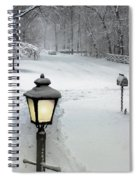 Lamppost In Snow Spiral Notebook