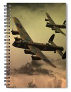 Lancaster Fire In The Sky Spiral Notebook