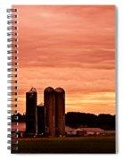 Lancaster Pa Sunset Spiral Notebook