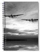 Lancasters Return Mono Version  Spiral Notebook
