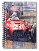 Lancia D50 Monaco Gp 1955 Spiral Notebook