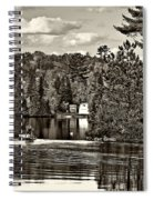 Land Of Lakes Sepia Spiral Notebook