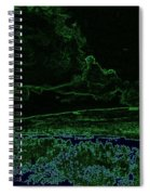 Landcape Glowing Spiral Notebook