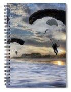 Landing At Sunset Spiral Notebook