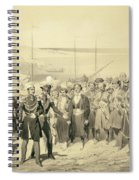 Landing Of A Military Leader Spiral Notebook