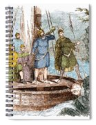 Landing Of The Vikings In The Americas Spiral Notebook
