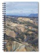 Landmannalaugar Iceland Panorama 2 Spiral Notebook