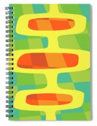 Abstract Pods Spiral Notebook