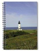 Landscape At Yaquina Lighthouse Spiral Notebook