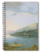 Landscape Along The Rhine Spiral Notebook