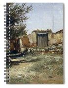 Landscape In Aragon Spiral Notebook